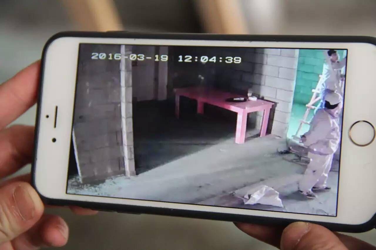 长岛观澜今天安装监控 客户连着手机24小时直接可以看到工地的