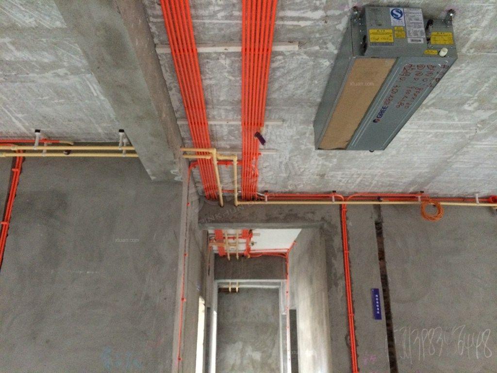聚义香城雅郡在建工地 天古装饰隐蔽工程水电验收装修