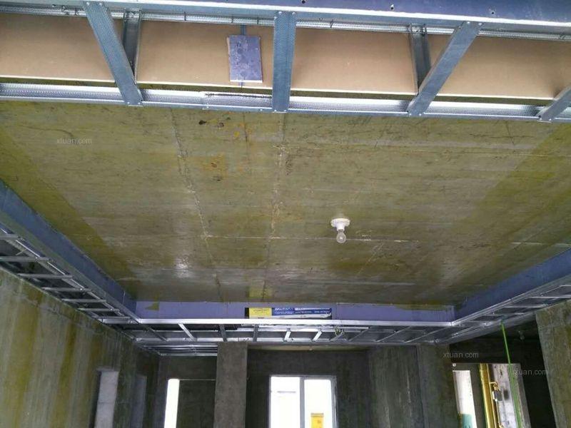 三居室水电路 防水 吊顶施工现场装修效果图