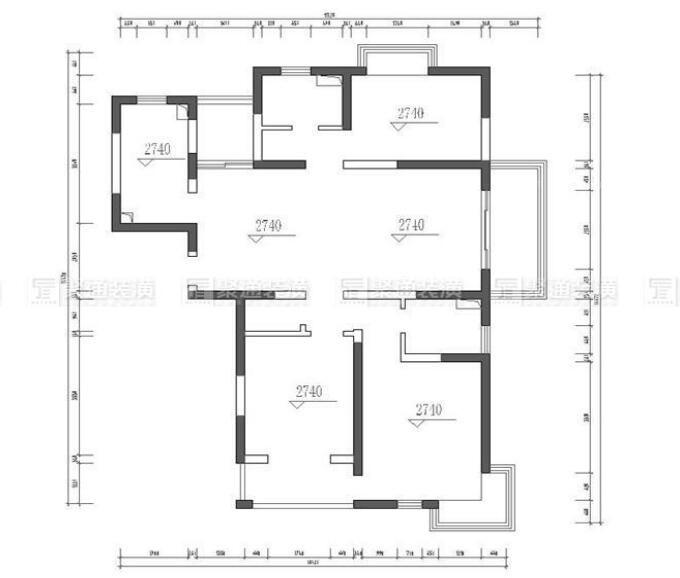 正阳世纪新城132平三房装修在建