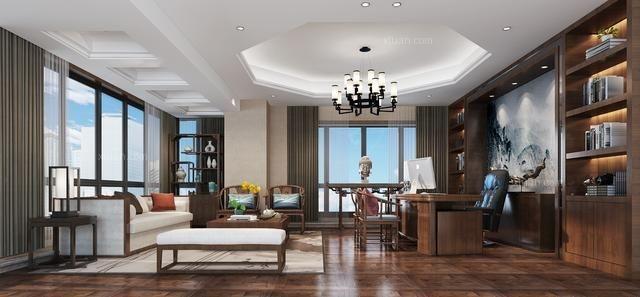 武汉办公室装修,230平中式 汇艺装饰