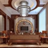 中式风格电视背景墙的装修特点及技巧介绍