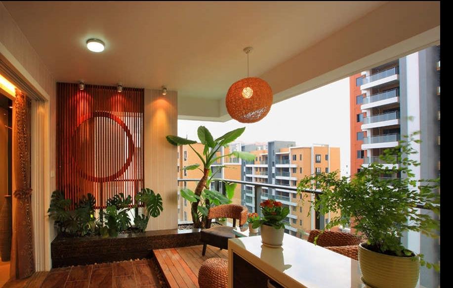 一米阳光的阳台简洁空间装修效果图