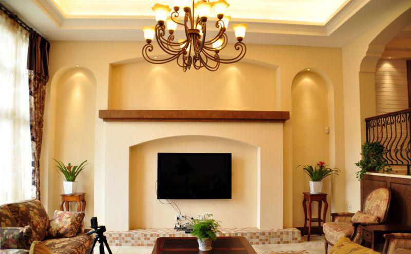 美式风格电视背景墙装修效果图图片