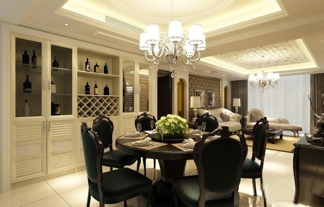 现代风格家庭餐厅图装修效果图