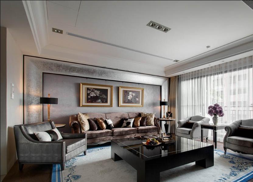 沙发背景墙美式风格装修效果图
