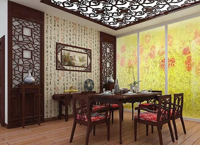 中式风格餐厅家庭室内装修