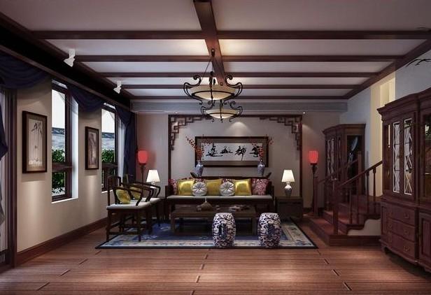 中式风格装修 三室两厅装修图片