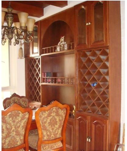 中式风格酒柜家庭室内装修图片