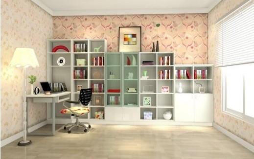 简单造型欧式书柜设计
