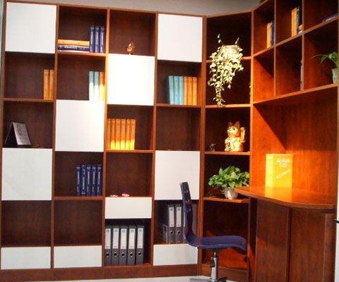 简约创意书柜装修效果图