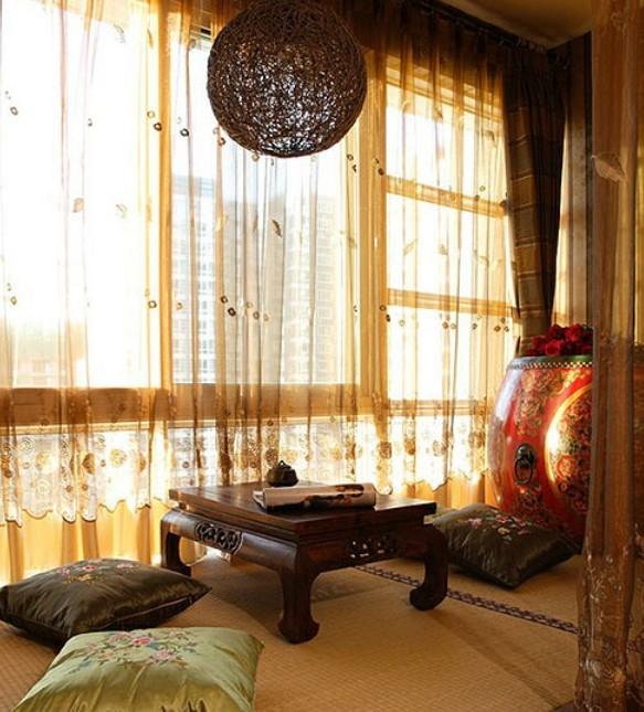 中式风格飘窗   飘窗装修效果图