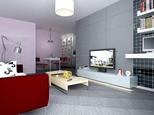 140平大户型客厅隔断装修效果图