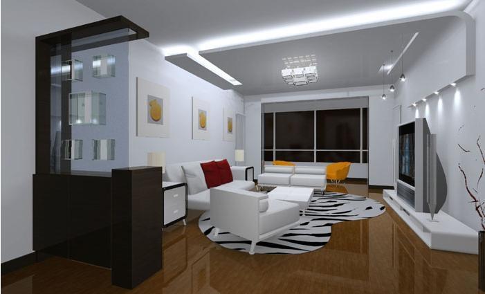240平别墅客厅隔断设计装修效果图