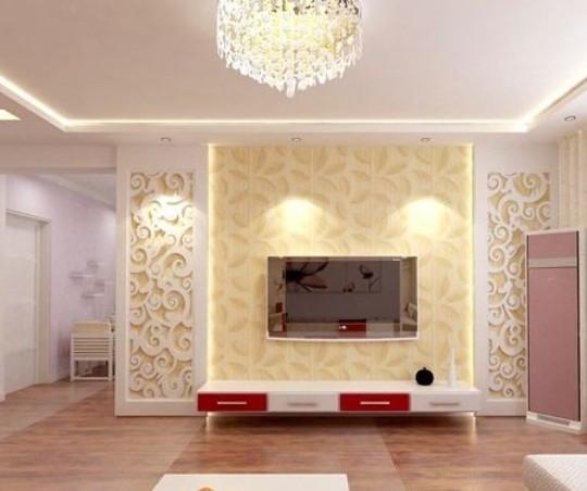 简约风格的实用影视墙设计装修效果图图片