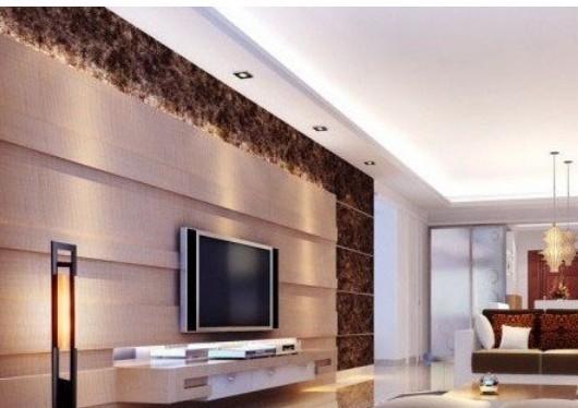 现代大气质感影视墙装修效果图图片