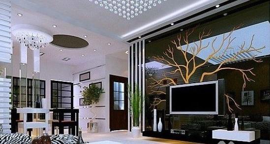 影视墙图片 家庭装修影视墙 客厅影视墙
