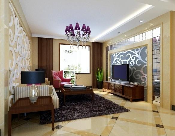 简单设计时尚客厅电视背景墙装修效果图