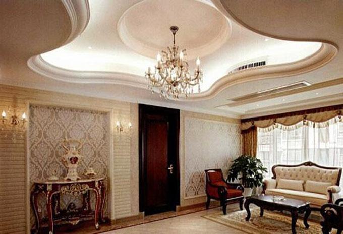 欧式风格客厅吊顶装修效果图图片