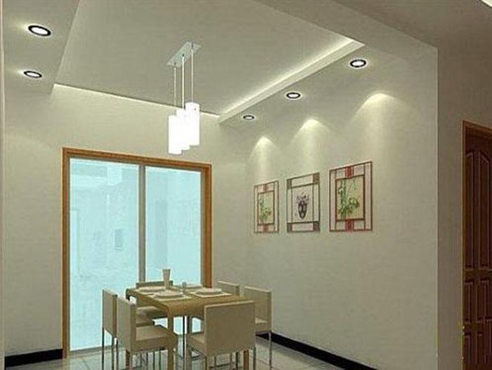 现代简约风格客厅餐厅吊顶怎么设计