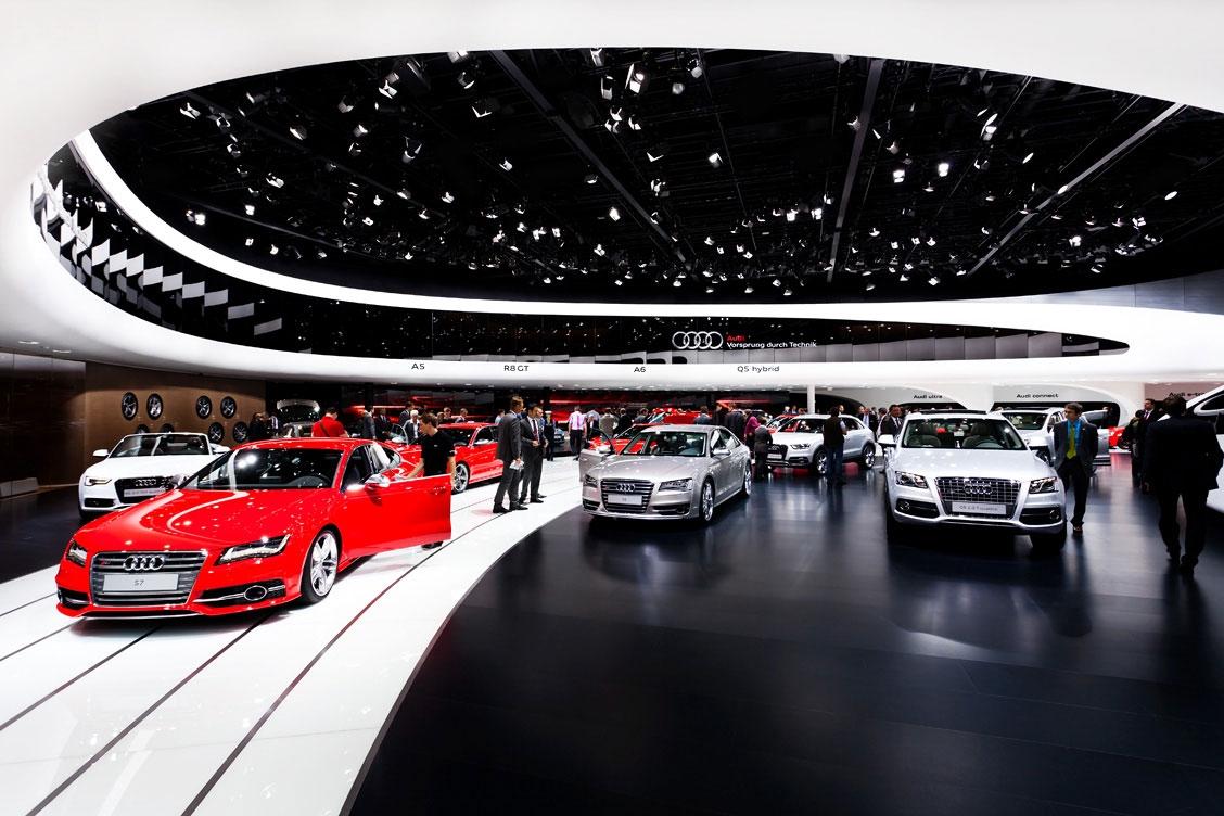 奥迪汽车展厅设计效果图 装修效果图