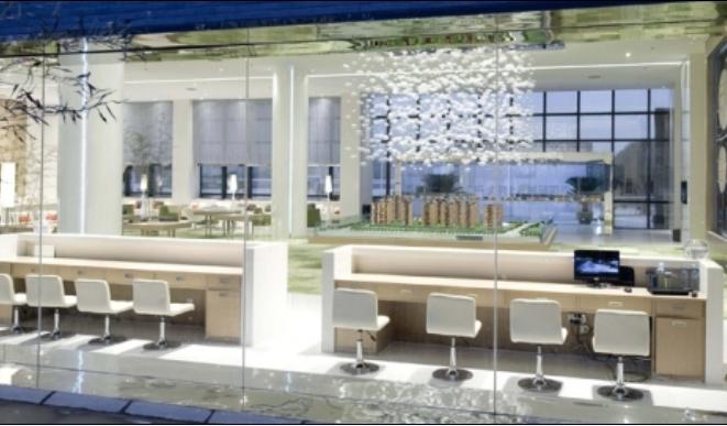 白色售楼中心图装修效果图