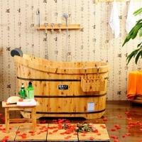木浴缸的选购技巧装修效果图