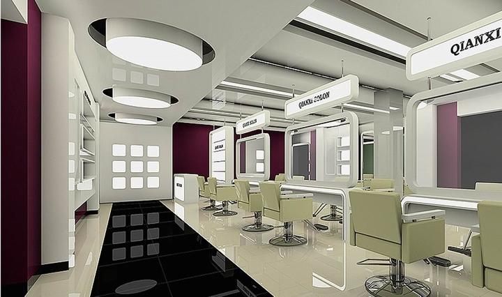 潮流个性的理发店设计装修效果图