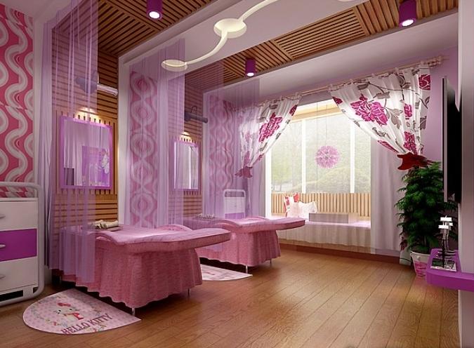 美容院装修效果图 美容院装修设计