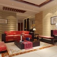 沙发背景墙为您家居添色彩装修效果图