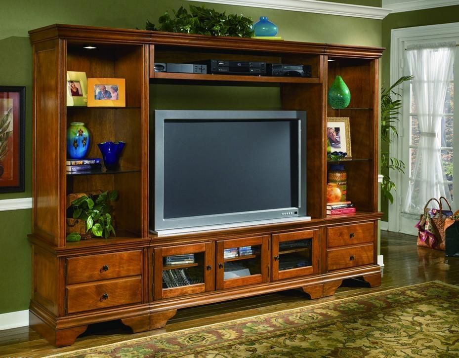 电视柜与展示柜的完美结合装修效果图