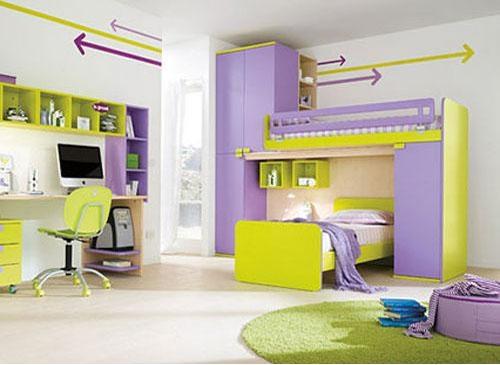 北欧风格阁楼式儿童房设计装修效果图