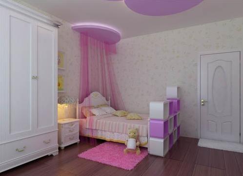 三室两厅新古典儿童房