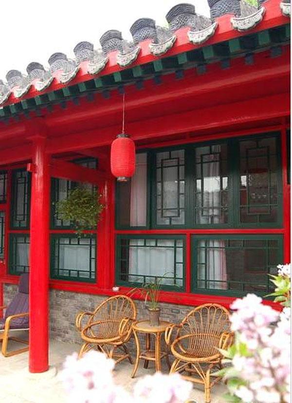 中式风格四合院的建筑布局装修效果图