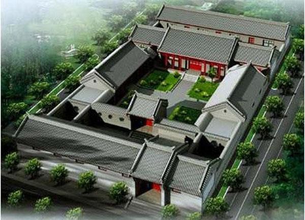 中式风格四合院的建筑历史装修效果图
