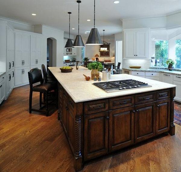 新古典風開放式廚房裝修效果圖