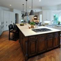 新古典风开放式厨房装修效果图