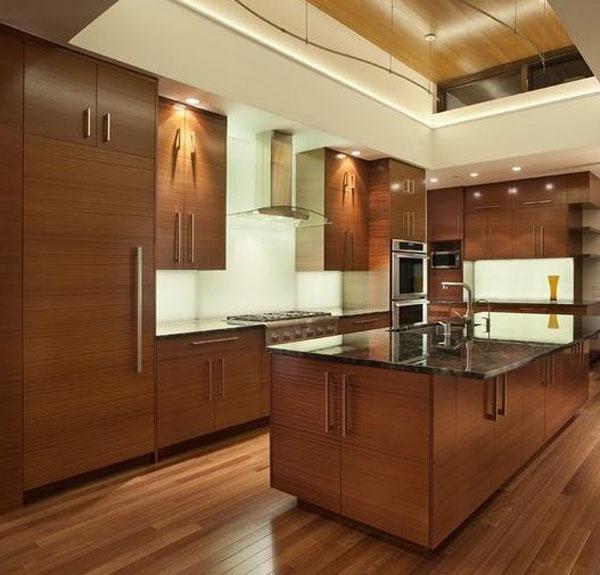 三室一厅法式风格厨房开放式厨房