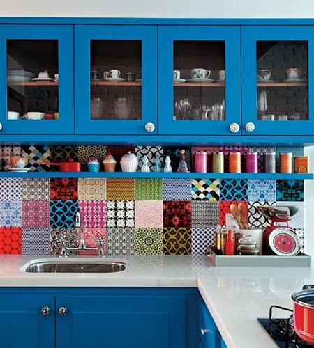 单身公寓地中海风格厨房开放式厨房