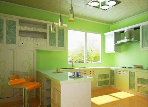 时尚潮流厨房空间装修效果图