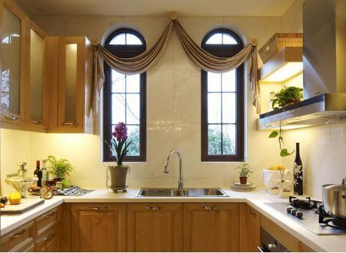 独栋别墅混搭风格厨房开放式厨房