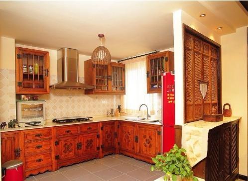 个性混搭厨房橱柜欣赏装修效果图