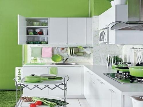 两居室乡村风格厨房开放式厨房