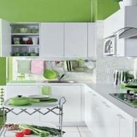 厨房橱柜色彩的搭配装修效果图