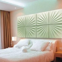 新潮艺术3D卧室背景墙设计装修效果图