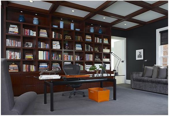 書柜 書柜 書房 書房裝飾裝修效果圖