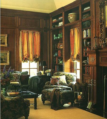 三室一厅古典风格书房