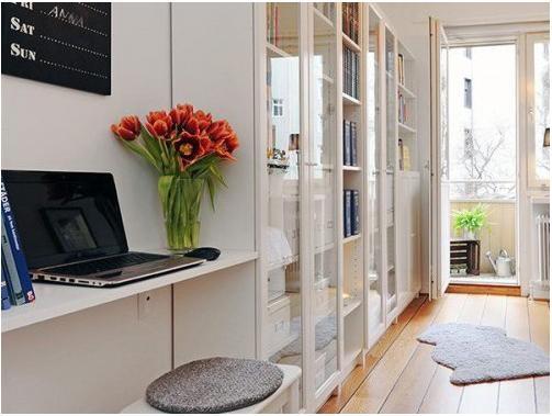 单身公寓现代风格书房