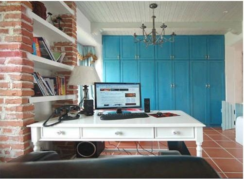 书柜 书柜 书房 书房装饰 写字台装修效果图