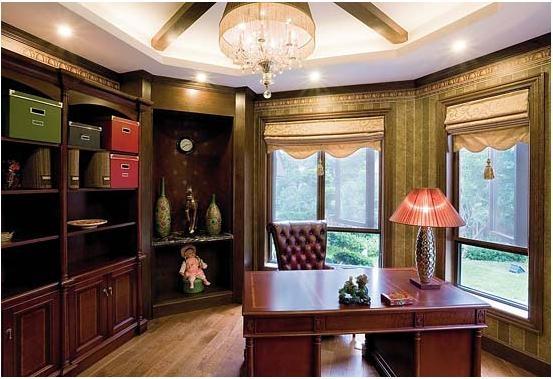 书房 书房装饰 红木家具 现代红木家具 红木家具装修效果图